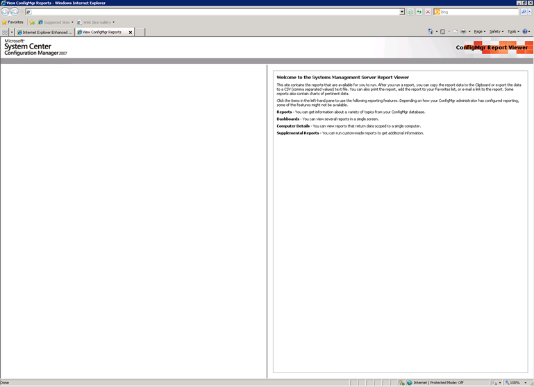 SCCM Reporting Site's Left Pane is Blank   SCCM Guy's Blog