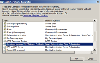 Creating opsmgr 2012 gateway server certificates sccm guys blog the certificate is ready for issuing close out of the certificate authority yadclub Choice Image
