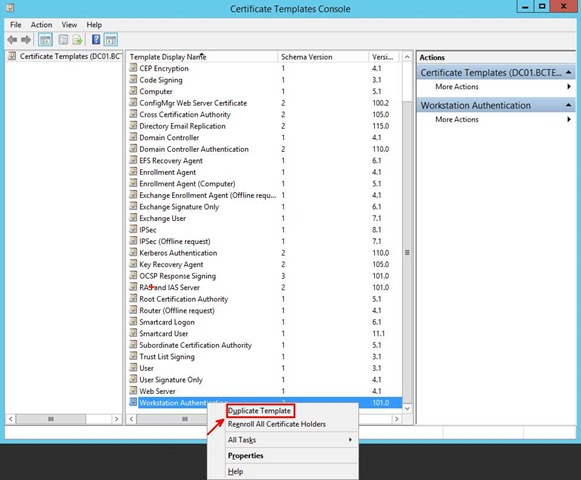 Pki certificates for configuration manager 2012 r2 part 24 3 in the duplicate template dialog box ensure that windows 2003 server enterprise edition is selected and then click ok yelopaper Images