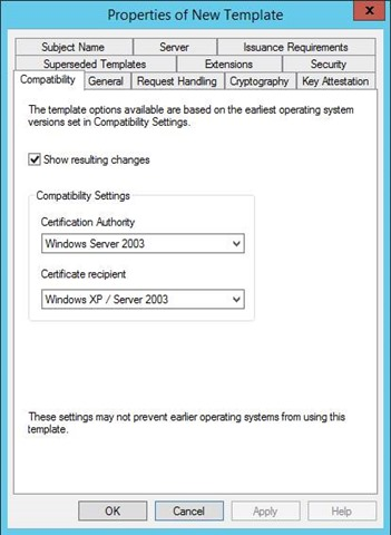 Pki certificates for configuration manager 2012 r2 part 1 of 4 in the properties of new template dialog box on the general tab enter a template name to generate the web certificates that will be used on configuration yadclub Choice Image