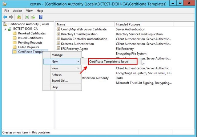 Pki certificates for configuration manager 2012 r2 part 24 in the enable certificate templates dialog box select the new template that you have just created configmgr client certificate and then click ok yelopaper Choice Image