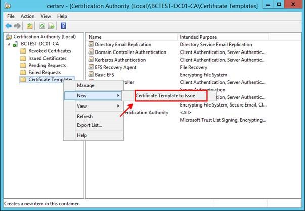 Pki certificates for configuration manager 2012 r2 part 1 of 4 in the enable certificate templates dialog box select the new template that you have just created configmgr web server certificate and then click ok yadclub