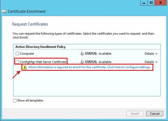 Pki certificates for configuration manager 2012 r2 part 1 of 4 in the certificate properties dialog box in the subject tab do not make any changes to the subject name this means that the value box for the subject yadclub Image collections
