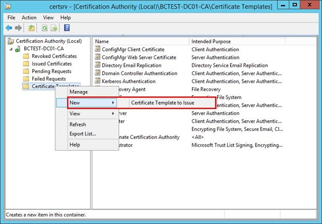 Pki certificates for configuration manager 2012 r2 part 34 in the enable certificate templates dialog box select the new template that you have just created configmgr client distribution point certificate yadclub Gallery