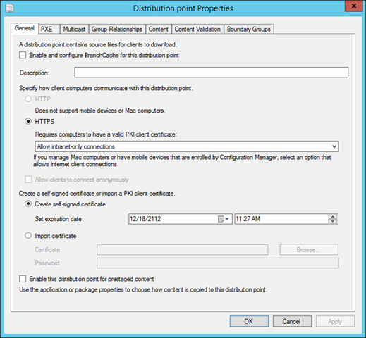 PKI Certificates for Configuration Manager 2012 R2 – Part 4