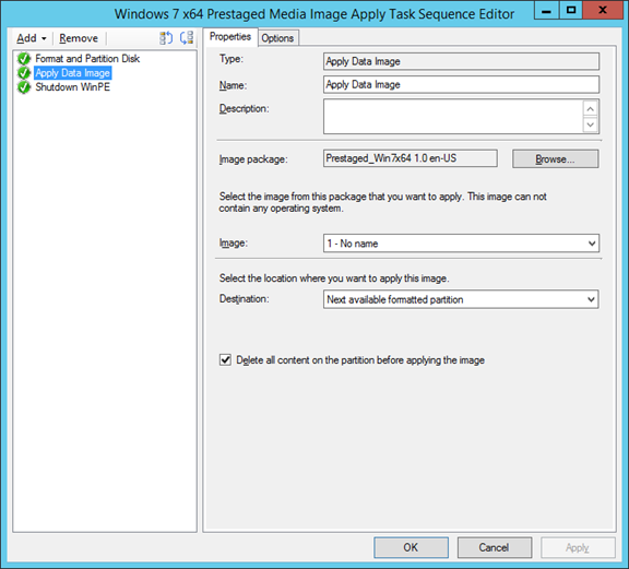 Creating a Prestaged image using Configuration Manager 2012